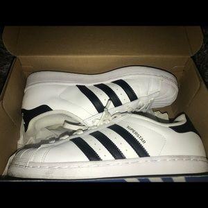 White/ Black adidas